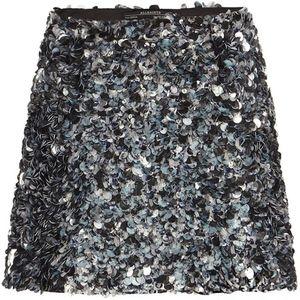 AllSaints Graffiti Sequin Embellished Skirt